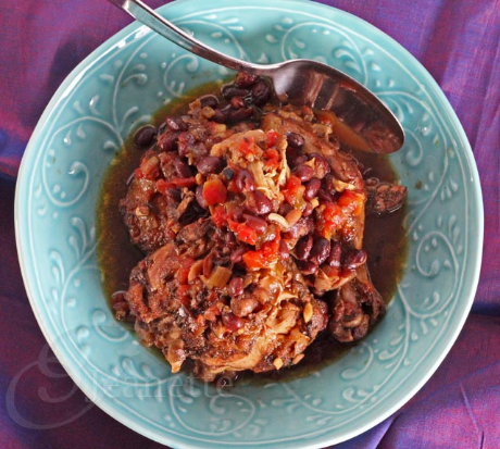 Crockpot Jamaican spiced chicken stew, from Jeanette's Healthy Living (via Soup Chick).