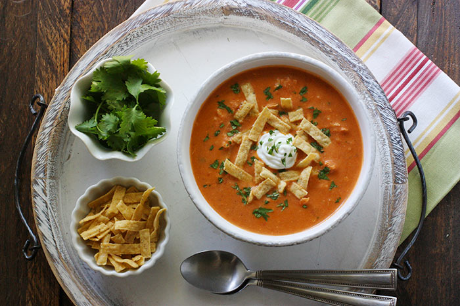 White bean chipotle chicken tortilla soup, from Soup Addict (via Soup Chick).