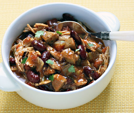 Floribean chicken chili, from The Perfect Pantry.