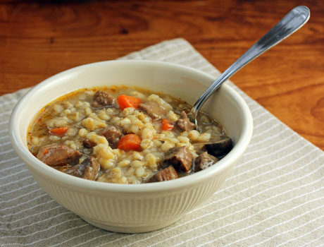 Beef barley soup, made easy in the pressure cooker (or on the stove stop). #soup