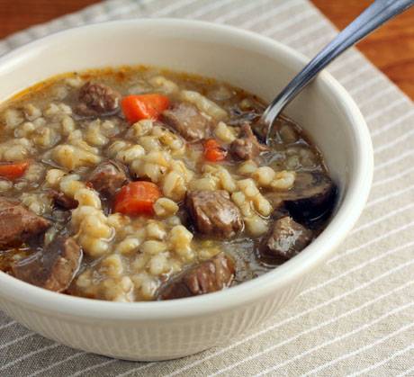 Beef barley soup, a classic combination! #soup
