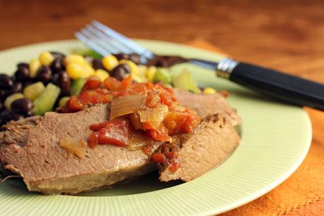 "Slow cooker ""armadillo"" beef brisket (#crockpot #slowcooker)."