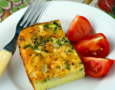 Asparagus, egg and cheese casserole. #glutenfree #breakfast #asparagus