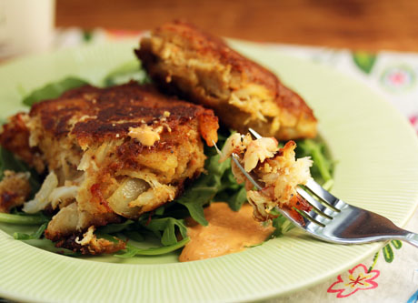 Traditional New England crab cakes, a summer favorite.