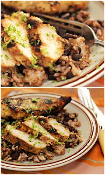 Grill honey-lime chicken breasts to serve hot or cold. Try them with black beans and rice. #grilling
