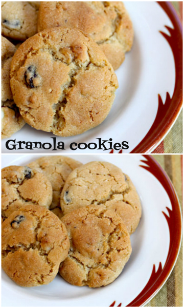 Granola cookies, an old-fashioned favorite.