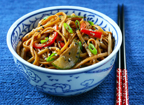 Cold sesame noodles, just like your favorite takeout restaurant.
