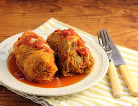 Polish stuffed cabbage rolls (make ahead and freeze), from The Perfect Pantry.