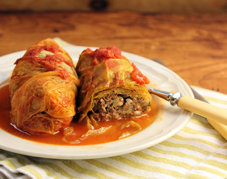 Stuffed cabbage rolls (The Perfect Pantry).
