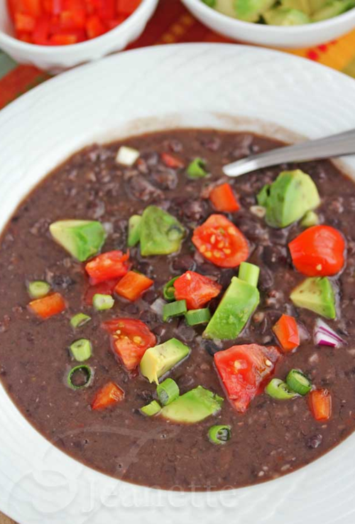 Pressure cooker black bean soup, from Jeanette's Healthy Living (on ...