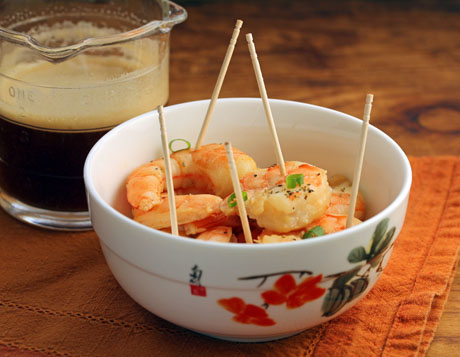 Shrimp in beer marinade (The Perfect Pantry).