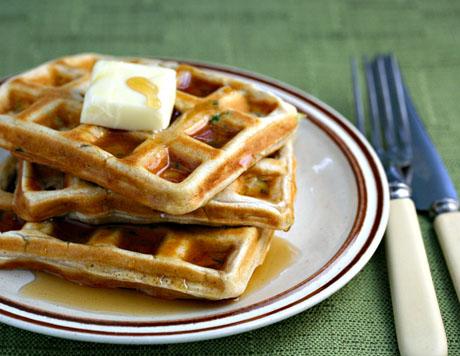Zucchini waffles #vegetarian