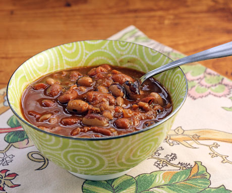 Everything-from-the-pantry bean soup #vegetarian.
