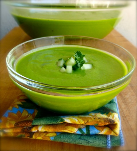 Chilled asparagus soup with spinach and avocado, from Simple Nourished Living (via Soup Chick).