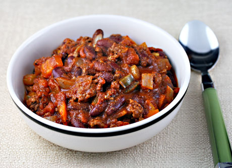 Football season chili, from The Perfect Pantry. #chili