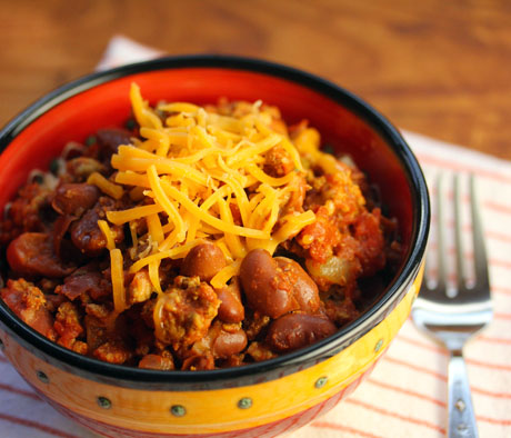 President Obama's chili, made with turkey or beef.
