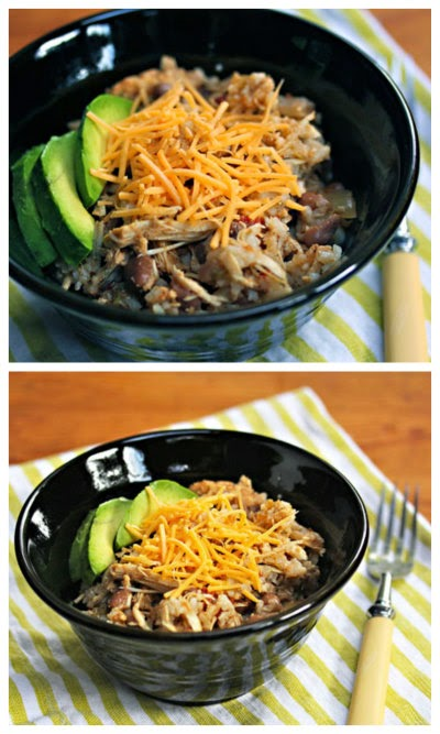 Slow cooker chicken and pinto bean burrito bowl. #slowcooker #glutenfree