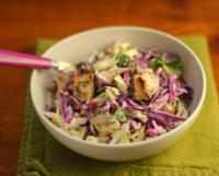 Chicken-cabbage-salad-buttermilk-blue-cheese-dressing