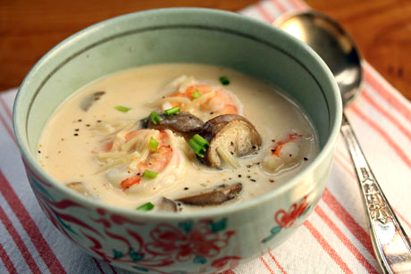 Dig in your pantry for the fixings to make this shrimp and coconut curry noodle soup!