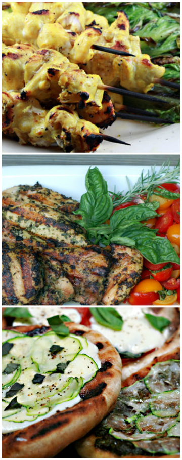 Get your grill on! Grill favorites for dinner and dessert. #grilling
