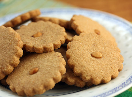 Serve these toasted piñon shortbread cookies with coffee or tea. They'll melt in your mouth!