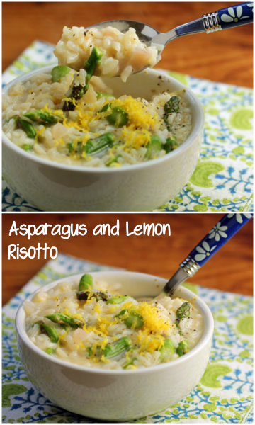 Asparagus and lemon risotto, in the pressure cooker or on the stove top. So creamy! #glutenfree