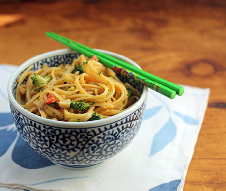 Quick and easy chilled miso noodles. Hardly any cooking!