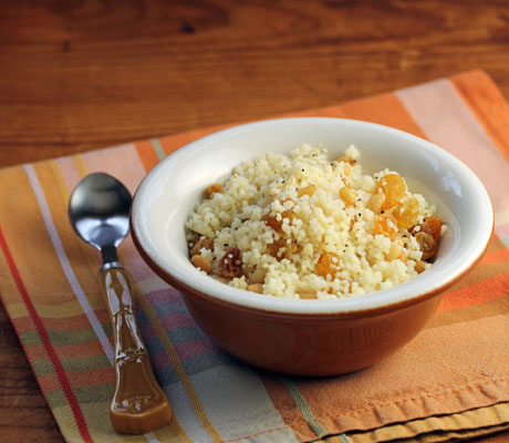 Couscous with raisins, pine nuts and cinnamon (The Perfect Pantry).