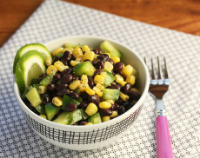 Corn-and-black-bean-salad-with-sweet-lime-dressing