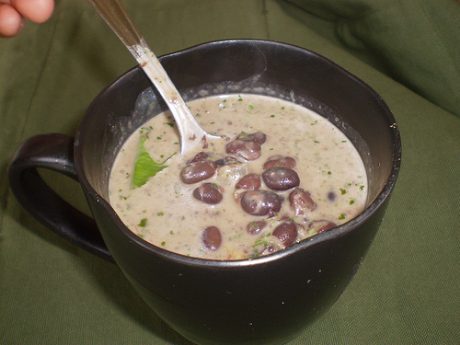 Black bean soup with coconut and cilantro, from Apron Strings (via Soup Chick).