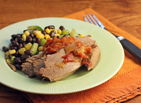 """Get your slow cooker on for this """"armadillo"""" beef brisket (The Perfect Pantry). #slowcooker #crockpot #beef"""