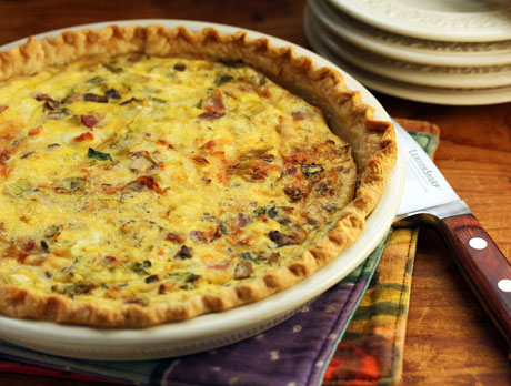 Brussels sprouts and bacon quiche. #quiche #bacon