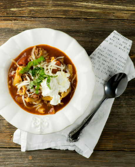 Lasagna soup, from Framed Cooks (via Soup Chick). #soup