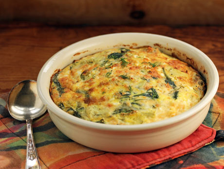 Greek spinach, artichoke and feta breakfast casserole. #recipe #glutenfree