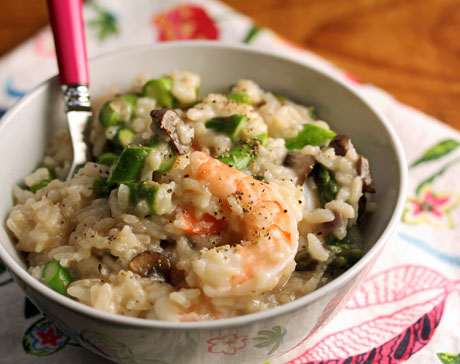 Pressure-cooker-shrimp-asparagus-risotto-recipe