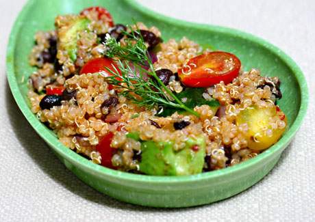 Quinoa and vegetable salad.