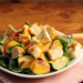 Grilled chicken, zucchini and nectarine spinach salad with honey-lime dressing {gluten-free}