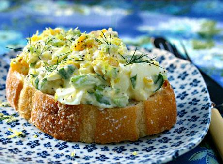 Lemon-dill egg salad, a fresh twist on the classic. #vegetarian
