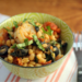 White beans with shrimp, basil, and slow-roasted tomatoes {gluten-free}