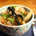 Seafood stew with tomatoes, peppers, fennel and leeks {gluten-free}