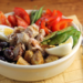 Salad Nicoise-style, with tuna, green beans, olives and potatoes {gluten-free}