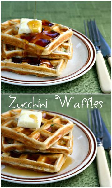 Zucchini waffles! Breakfast, supper, or snack.