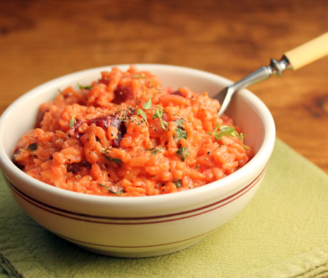 Roasted beet risotto, a beet lover's dream. #vegetarian #glutenfree