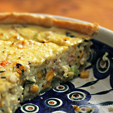 Lobster, corn and basil quiche: easy indulgence!