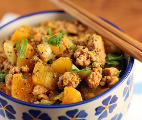 North African harissa turkey stew, served with brown rice. #glutenfree