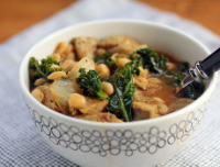 Make this smashed white bean, sausage and kale soup ahead, and freeze for easy weeknight dinners.