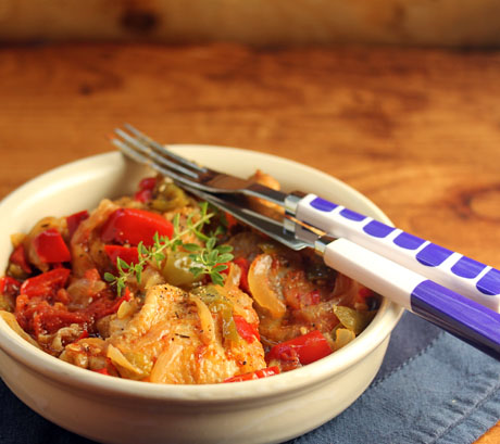 Chicken, bell peppers, tomatoes, and smoked pepper. #glutenfree
