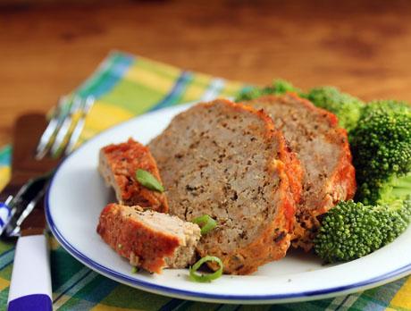 Turkey meatloaf with a ketchup glaze. Make ahead and freeze!