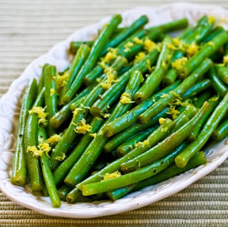 Lemony green beans, from Kalyn's Kitchen.