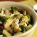 Warm Brussels sprouts, almond and goat cheese salad with maple mustard dressing {vegetarian, gluten-free}
